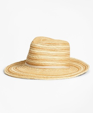 Brooks Brothers Striped Woven Straw Hat