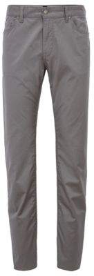 BOSS Hugo Regular-fit jeans in satin-finish stretch cotton 34/32 Open Grey