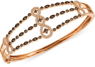 LeVian Le Vian Chocolatier Diamond Bangle Bracelet (1 ct. t.w.) in 14k Rose Gold