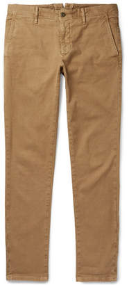 Incotex Slim-Fit Textured Stretch-Cotton Trousers - Men - Tan