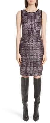 St. John Painterly Sheen Tweed Knit Dress