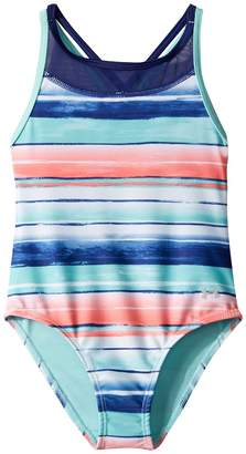 Under Armour Kids Water Stripe One-Piece Girl's Swimsuits One Piece