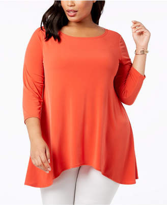 Alfani Plus Size Swing Top, Created for Macy's