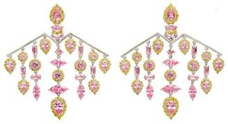 Fallon Versaille Pink Chandelier Earrings