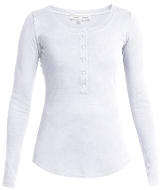 Proenza Schouler pswl Pswl - Button Up Back Cotton Top - Womens - White