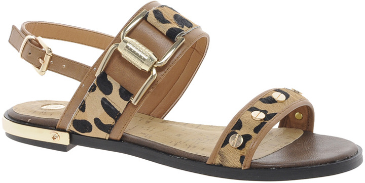 River Island Patch Animal Print Sandals