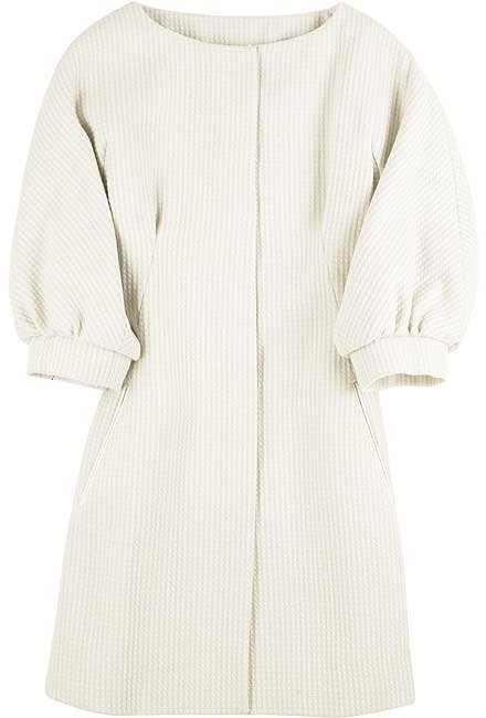 Moschino Collarless swing coat