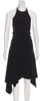 Halston Halter Handkerchief Dress