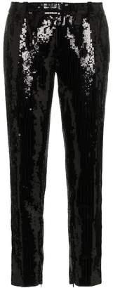 Saint Laurent sequin embellished slim leg trousers