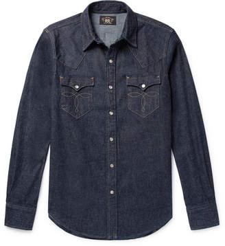 RRL Slim-Fit Denim Western Shirt