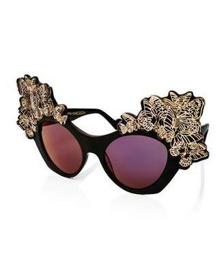 Karlsson Anna-Karin The Butterfly Mirrored Sunglasses, Black