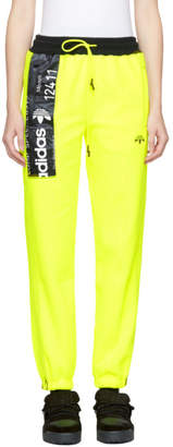 adidas by Alexander Wang Yellow Polar Fleece Jogger Pants