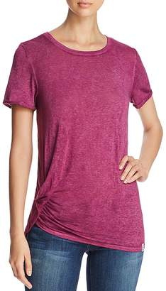 Andrew Marc Performance Short-Sleeve Ruched Tee