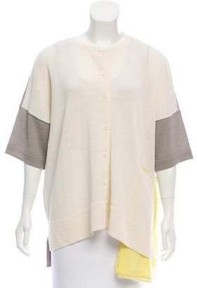 Tsumori Chisato Wool Short Sleeve Cardigan w/ Tags