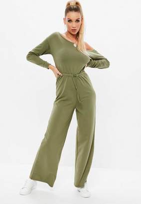 Missguided Khaki Loopback Romper