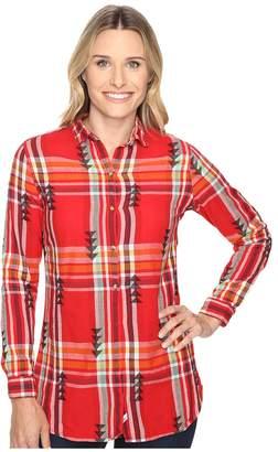 Woolrich First Light Jacquard Shirt Women's Long Sleeve Button Up