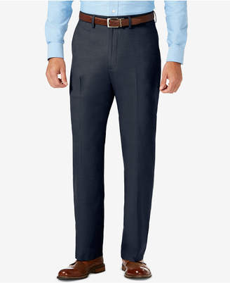 Haggar J.m. Classic Fit Flat Front Stretch Sharkskin Dress Pant