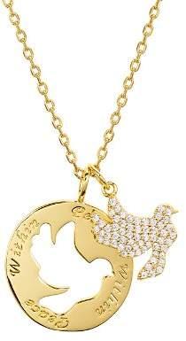"""Lulu DK Peace Necklace, 16"""""""
