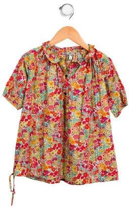 Bonton Girls' Printed Floral Tunic
