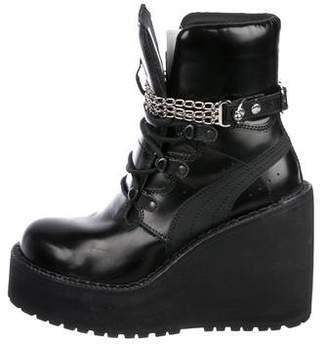 FENTY PUMA by Rihanna Leather Wedge Boots