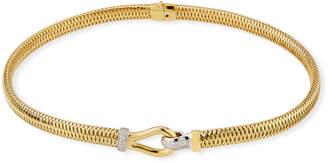 Roberto Coin 18k Primavera Diamond Mesh Necklace