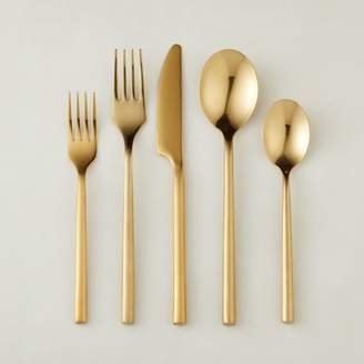 Cb2 20-Piece Rush Gold Flatware Set