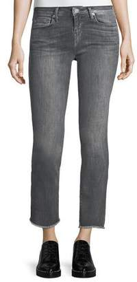 True Religion Sara Cigarette Ankle Jeans w/ Frayed Hem