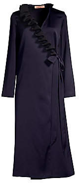 Maggie Marilyn Women's You Say It Best Ruffle Wrap Dress
