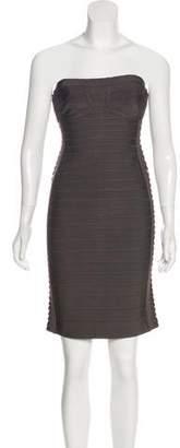 Herve Leger Strapless Mini Dress