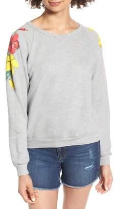Wildfox Couture Hibiscus Junior Sweatshirt