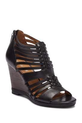 Trask Sammi Leather Wedge Sandal