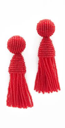 Oscar de la Renta Short Tassel Clip On Earrings $345 thestylecure.com