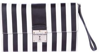 Marc JacobsMarc Jacobs Striped Flap Clutch