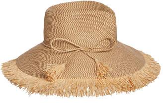 Eric Javits Antigua Woven Raffia Fringe Sun Hat