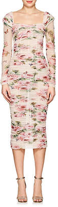 Dolce & Gabbana Women's Floral Cotton Fitted Sheath Dress