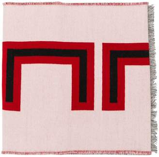 Gucci jacquard stripe scarf