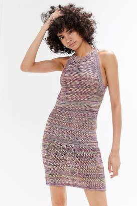 5f32cd68c5a Urban Outfitters Crochet High-Neck Sweater Dress
