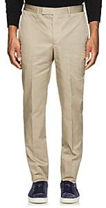 Officine Generale MEN'S PAUL COTTON TWILL TROUSERS-BEIGE, TAN SIZE 50 EU