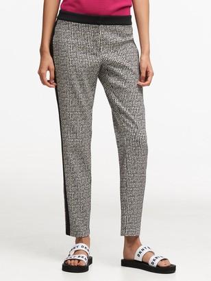 Donna Karan Donnakaran Check Jacquard Pant With Tonal Stripe