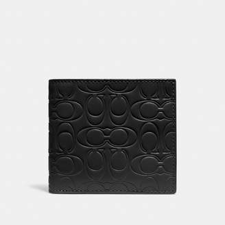 Coach Double Billfold Wallet In Signature Leather