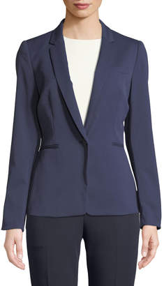 Tahari ASL Sal One-Button Blazer Jacket