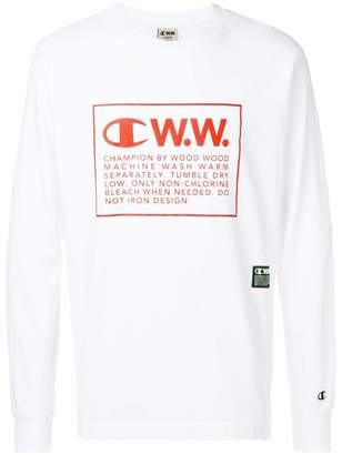 Wood Wood Champion X logo long sleeve T-shirt