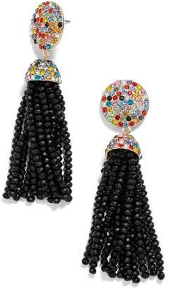BaubleBar Elle Beaded Tassel Drop Earrings