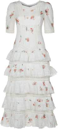 Zimmermann Heathers Tiered Ruffle Midi Dress
