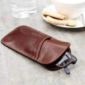 Maxwell Scott Bags Slim Leather Glasses Case. 'The Rufeno'