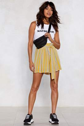 Nasty Gal Reveal Your Stripes Paperbag Shorts