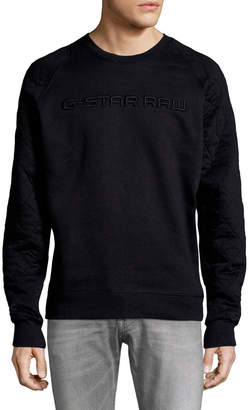 G Star G-Star Tarev Quilted Crewneck Sweater