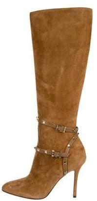 Valentino Rockstud Knee-High Boots w/ Tags