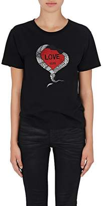 "Saint Laurent Women's ""1974"" Heart Cotton T-Shirt"