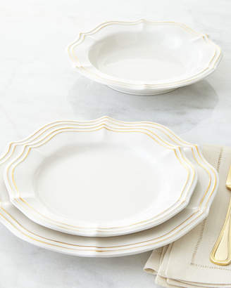 12-Piece Metallic Scalloped Dinnerware Service